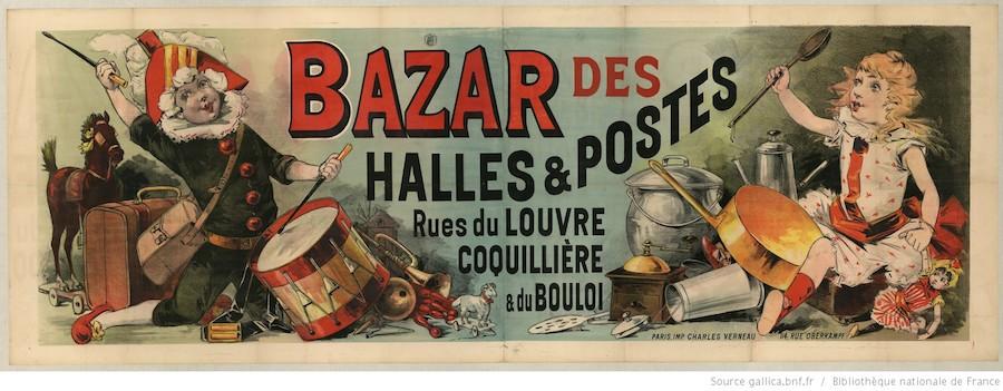 Bazar des Halles Paris postes