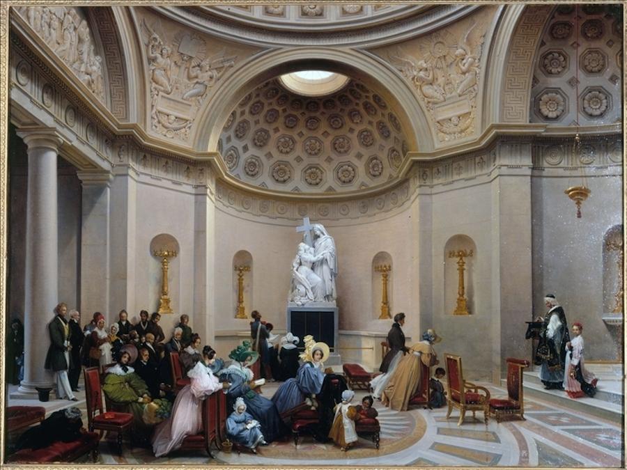 Une messe à la chapelle expiatoire (c)  Lancelot-Théodore Turpin de Crissé (1782-1859)