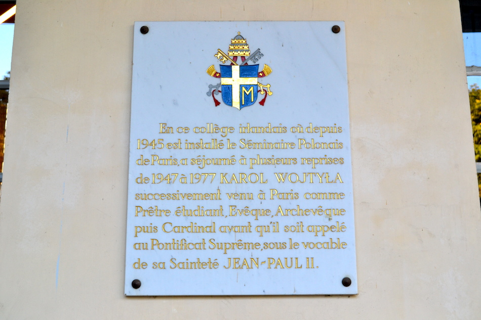 Plaque séminaire polonais - Centre culturel irlandais