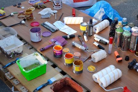 Les Grands Voisins - atelier peinture